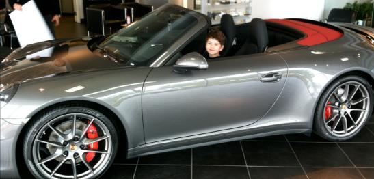 Caleb in Porsche
