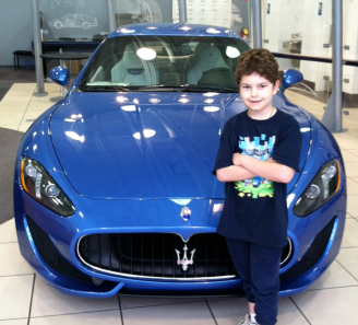 Caleb blue Maserati