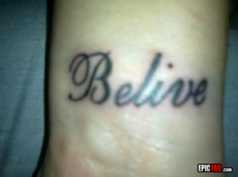 Belive tattoo