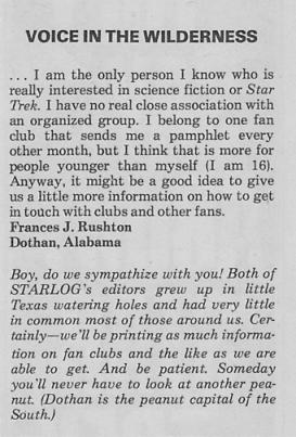 Starlog - editorial