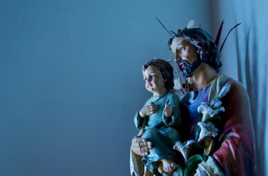 Covecrest Joseph and Jesus statue