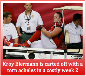 Biermann Injured