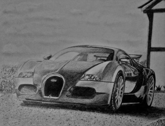 Bugatti Veyron drawing