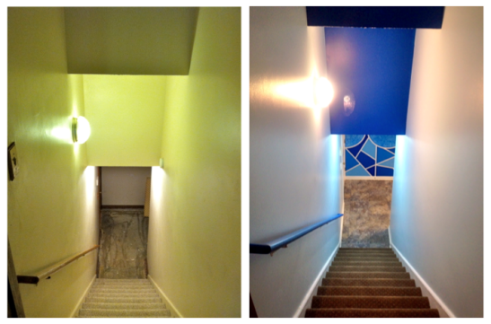 Stairwell before & after