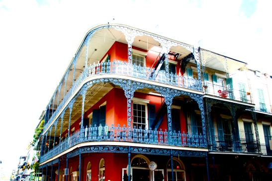 French Quarter building bleached