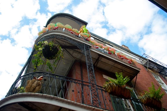 French Quarter corner balconies