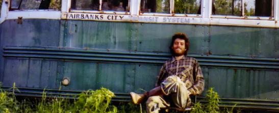"""Chris McCandless self-portrait at """"Magic"""" Bus"""