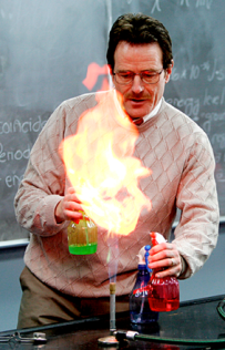 Mr. White teaching chemistry