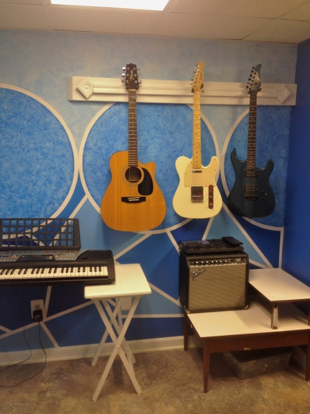 Wall mounted guitars