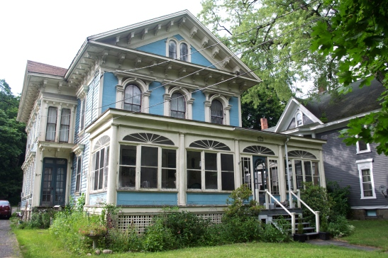 Owego blue house