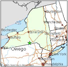 Owego, NY map